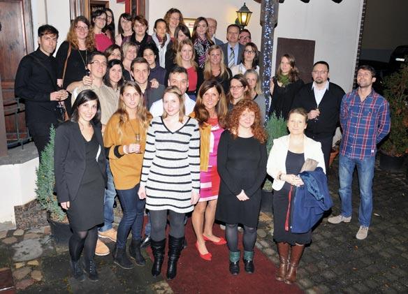 Das Lingua-World Team bei der alljährlichen Weihnachtsfeier