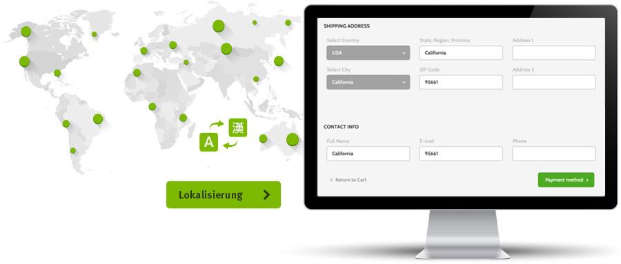 Lokalisierung von Webseiten und Software