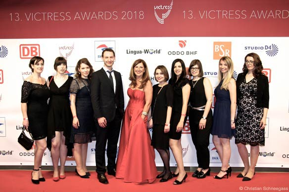 Nelly Kostadinova und Mitarbeiter bei den Victress Awards © Christian Schneegass